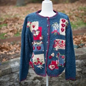Vintage Valentine's Day sweater size large